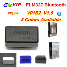 New Mini ELM327 OBD2 Bluetooth V01H2 Adapter V1.5 PIC18F25K80 Car Scanner Automotive