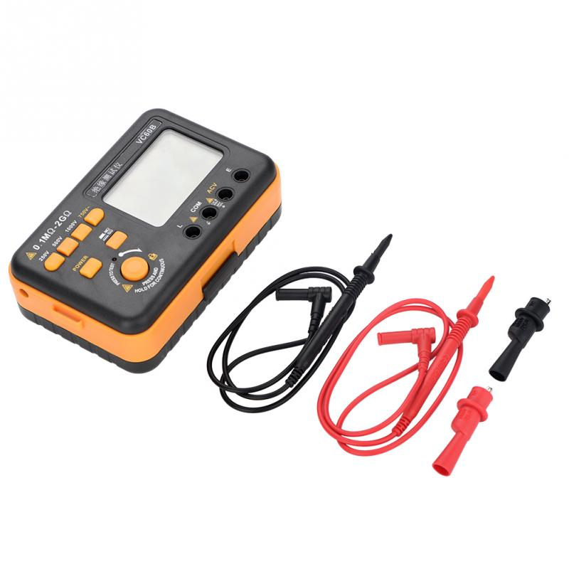 1 Set MegOhm Meter VC60B LCD Digital Insulation Resistance Tester MegOhm Meter Testers Measure for Chemical