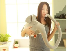 lovely plush elephant long nose elephant about 150cm birthday gift colour gray