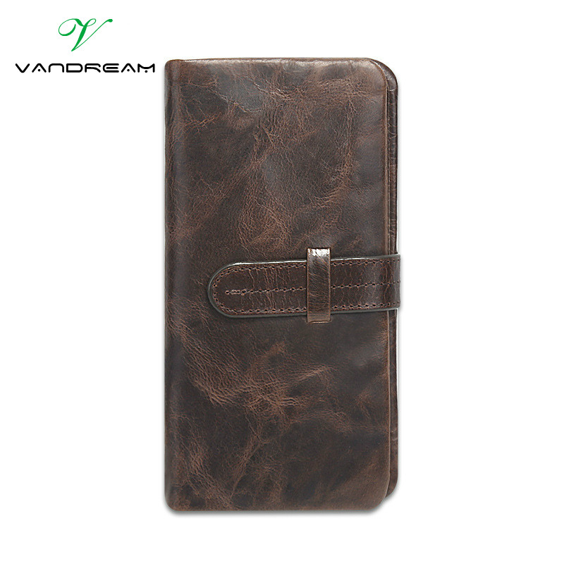 100% Top Quality Natural Genuine Leather Men Wallets Cowhide Fashion Dollar Purse Carteira Masculina Mens Purse Clutch Wallet