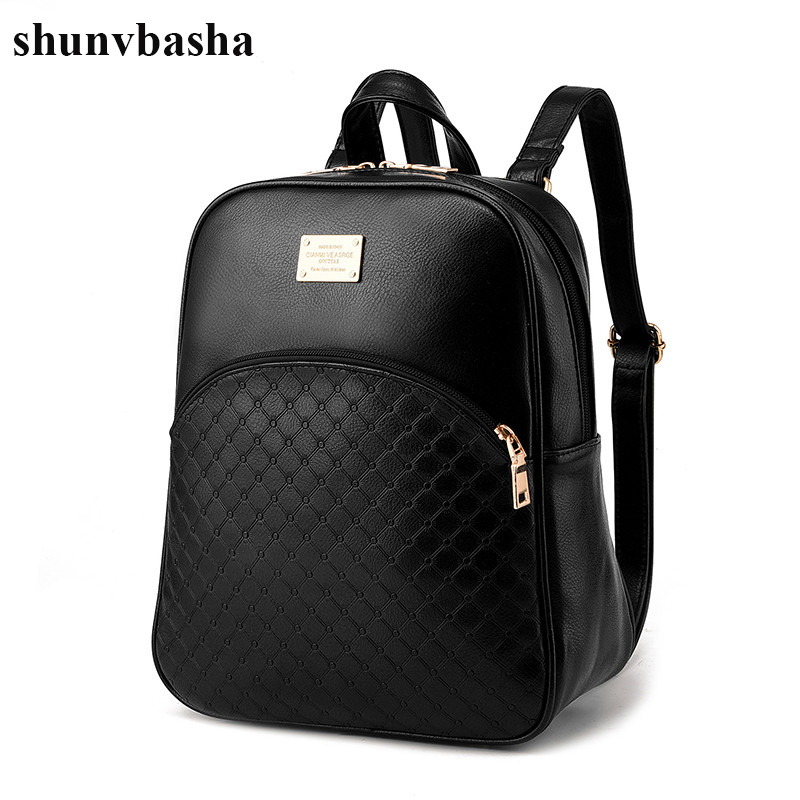 2017 Luxury Brand Backpacks Women Leather School Bag For Teenage Girls Casual Top-handle Backpack Fashion Mochila Escolar Ladies luxury brand backpacks women leather school bag for teenage girls casual top handle backpack fashion mochila escolar female new