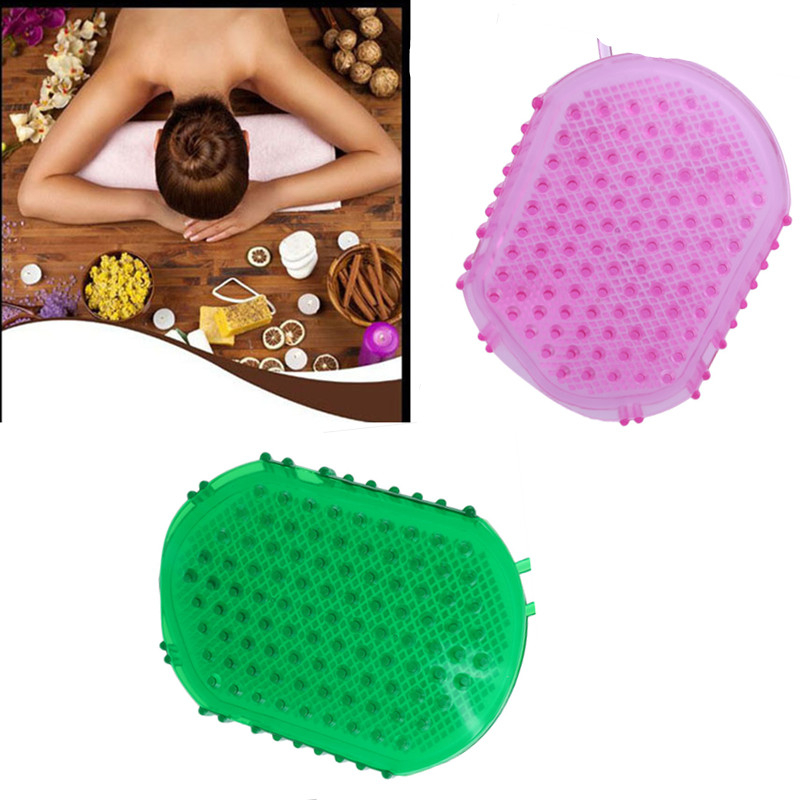 Anti Cellulite Body Massager Silicon Body Scrub Brush Scrub Bath / Shower Relaxation Tool Health Care 3 Color Optional