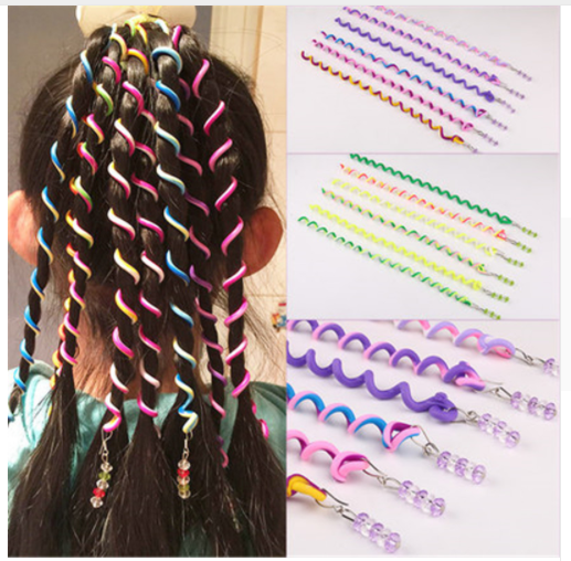 6pcs/lot Rainbow Color Headband Cute Girls Hair Band Crystal Long Elastic Hair Bands Headwear Hair Accessories Random Color bebe girls flower headband four felt rose flowers head band elastic hairbands rainbow headwear hair accessories