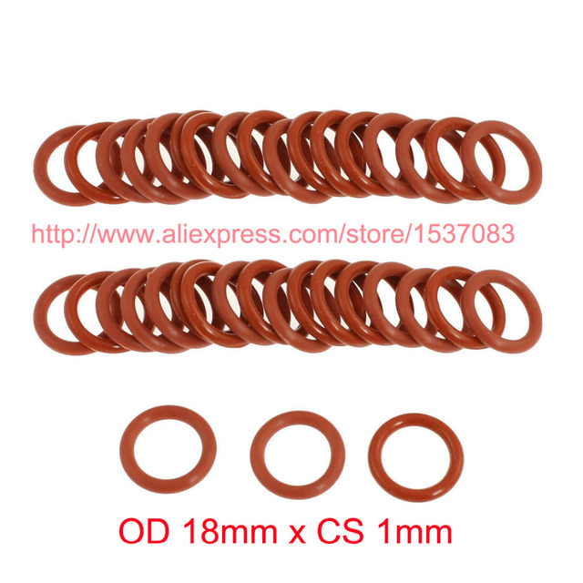 OD 18mm x CS 1mm silicone rubber o ring kit o seal ring-in Gaskets ...