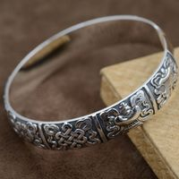 Благоприятный браслет S999 Thousand Foot серебро античное ремесла аксессуары оптом INTime буддийский открытие ювелирные изделия