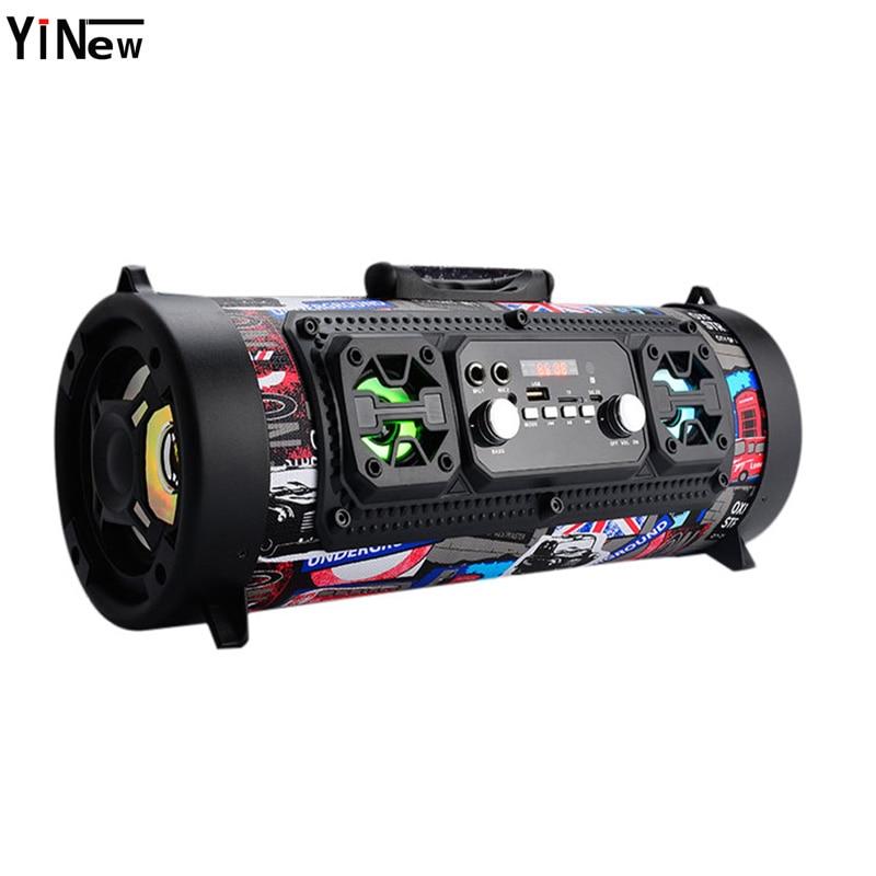 Hifi Tragbare Bluetooth Lautsprecher FM Radio Bewegen KTV 3D Sound Einheit Drahtlose Surround TV Sound bar Subwoofer 15 watt Im Freien lautsprecher + Mic