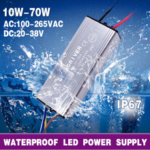 [MingBen] LED Driver Power Supply 10W 20W 30W 50W 70W IP67 Conver AC100-265V To DC22-38V For Flood Light Floodlight No Flicker(China)