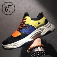 CatriCa Adult Fashion Luxury High Quality Designer Breathable Brand Casual Men Shoes Sneakers 2019 New Black Orange White L 20 4