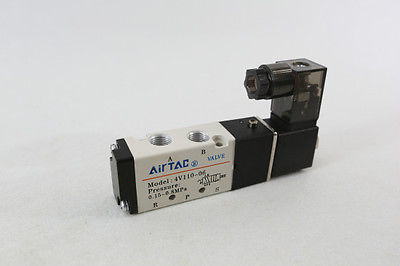 10 pcs 4V110-06 DC 24V Solenoid Air Valve 5port 2position BSP QC 1pcs 4v110 06 ac220v lamp solenoid air valve 5port 2position bsp