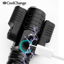 CoolChange Bicycle Light Waterproof Warning 3 Headlights Handlebar Cycling USB Charging Bike Front