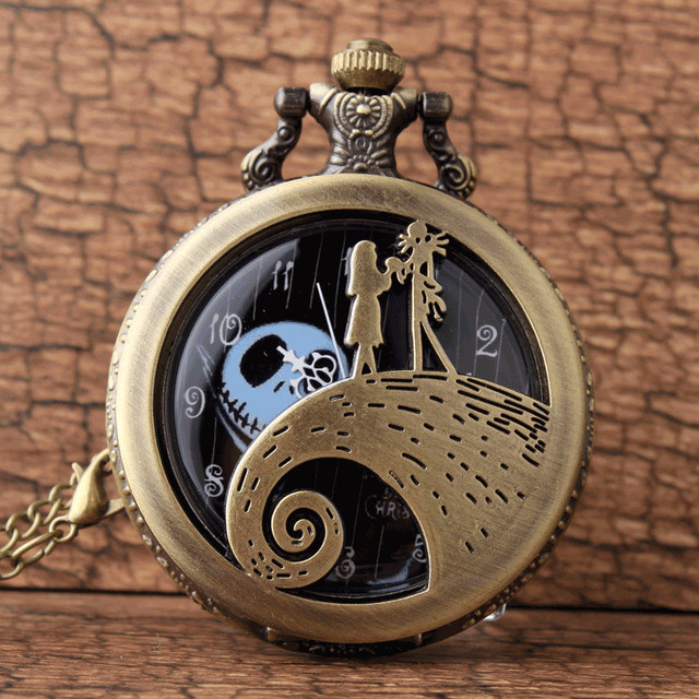 Retro Bronze The Nightmare Before Christmas Jack Skellington Tim Burton Movie Ki