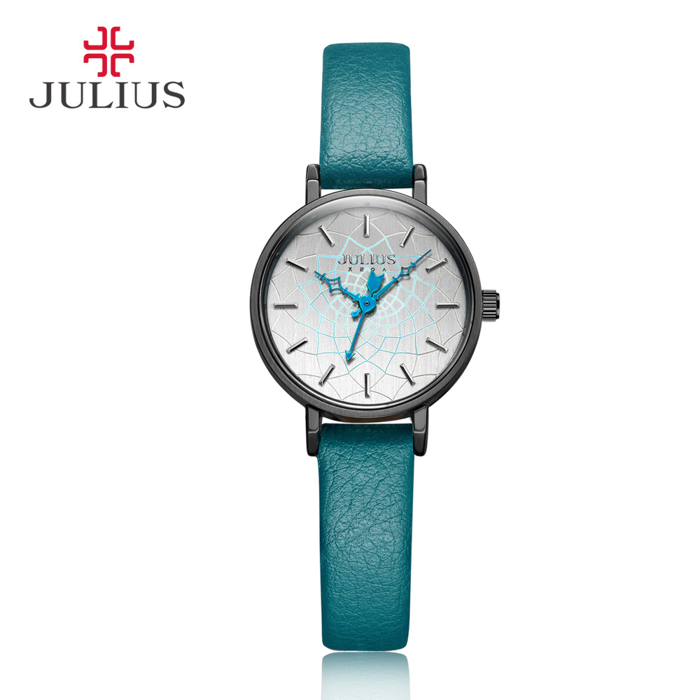 Small Retro Julius Women's Watch Japan Quartz Hours Top Fashion Dress Clock Bracelet Leather Simple Girl Birthday Gift Box xiniu retro wood grain leather quartz watch women men dress wristwatches unisex clock retro relogios femininos chriamas gift 01