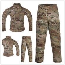 EmersonGear – uniforme de Combat MultiCam, vêtements tactiques pour enfants, veste et pantalon pour la chasse en plein air, jeux CS pour enfants de 6 à 14 ans