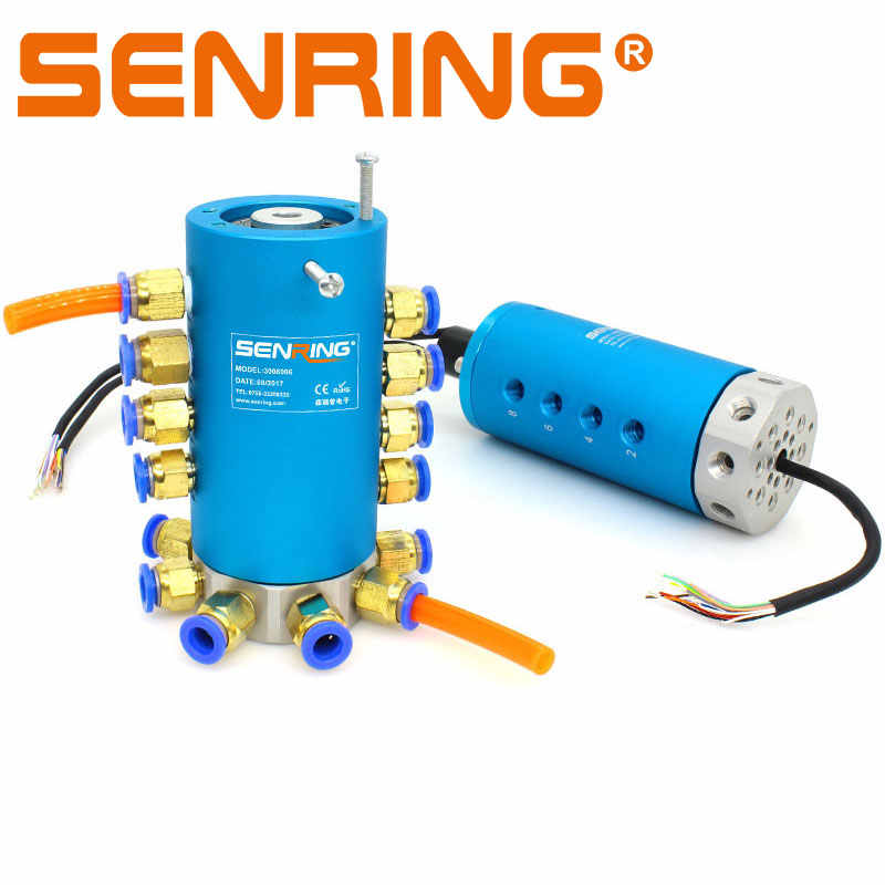 1/2/4/6/8 Passages Conductive Slip Ring Rotary Union/Joint Connector with  Port M5 G1/8''/ G1/4 for 2A Signals Transmission