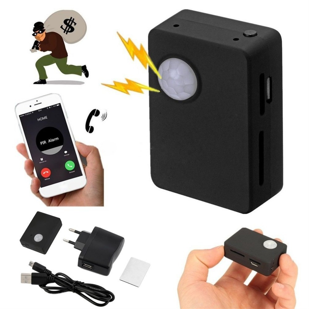 X9009 Wireless Infrared Camera Mini Gsm Pir Alarm GSM Tracker Autodial PIR MMS Listening Device Monitor Alarm System