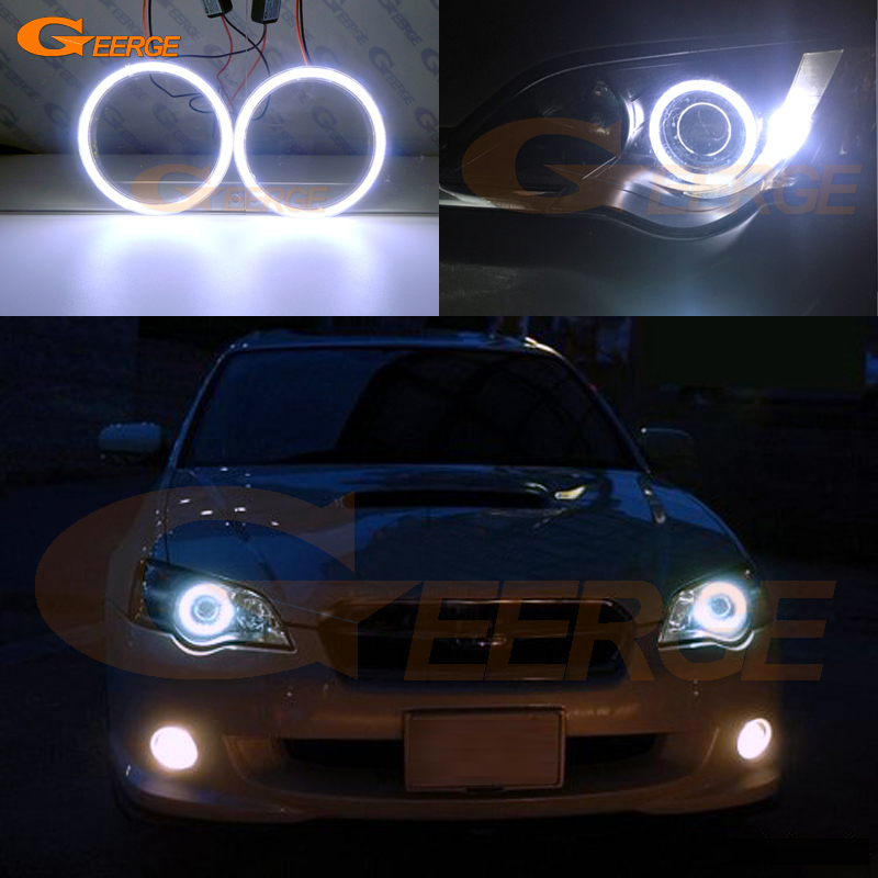 For Subaru Legacy 2007 2008 2009 Excellent angel eyes Ultra bright illumination COB led angel eyes kit subaru traviq главный тормозной