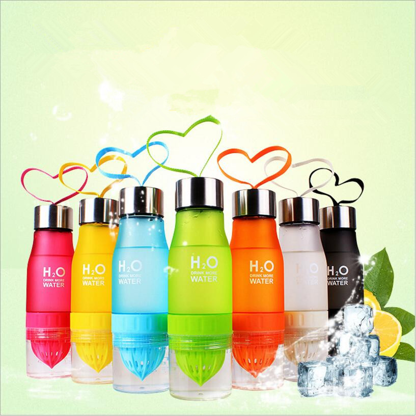 H20 Fruit Infusion Bottle Drink Outdoor Sports Juice Lemon Portable Water Bottle Xmas Gift Plastic Water Bottle Fast Shipping