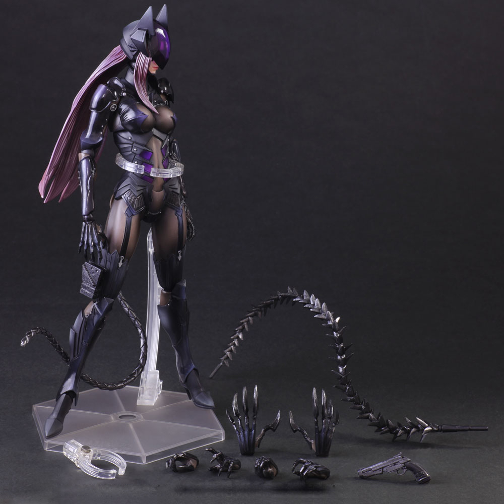 Playarts KAI Batman VS. Catwoman Selina Kyle 1/7 Scale Painted PVC Action Figure Collectible Model Toy 25cm KT2152 playarts kai star wars stormtrooper pvc action figure collectible model toy