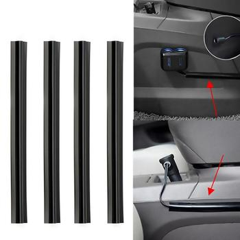 Auto Car Accessories 4 pieces/set Concealed Wire Cover Line Sleeve Car Cable Clips Organizers Vehicle Beam Clamp Line Sleeve image
