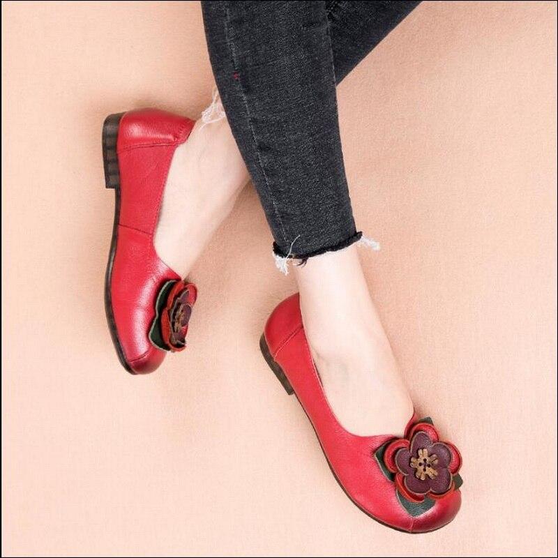 RUSHIMAN Handmade รองเท้าผู้หญิงรองเท้าหนังแท้รองเท้าแฟชั่น Loafers หญิงรองเท้าผู้หญิงพลัสขนาด 35 41-ใน รองเท้าส้นเตี้ยสตรี จาก รองเท้า บน AliExpress - 11.11_สิบเอ็ด สิบเอ็ดวันคนโสด 1