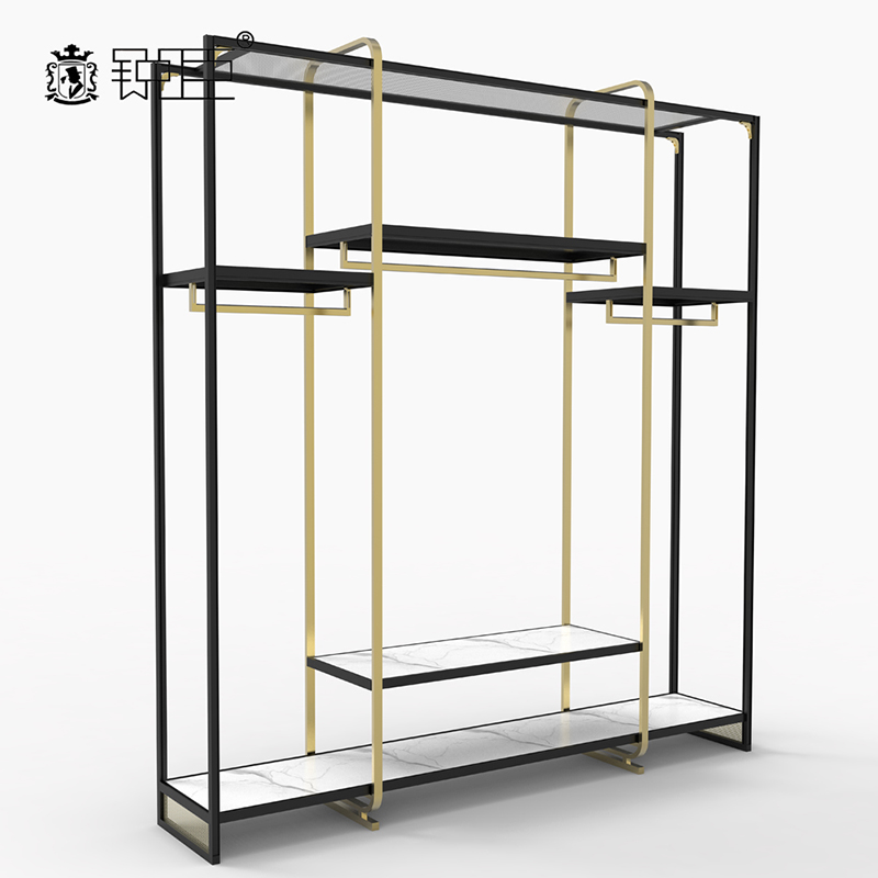 clothing shelves metal frame Multi Function retail shop display stands MD18