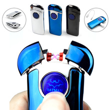 New Bat Electronic Cigarette Lighter Best USB lighter with Double Arc USB Gadget For Men Novelty – Smoke Cigarette & Cigar