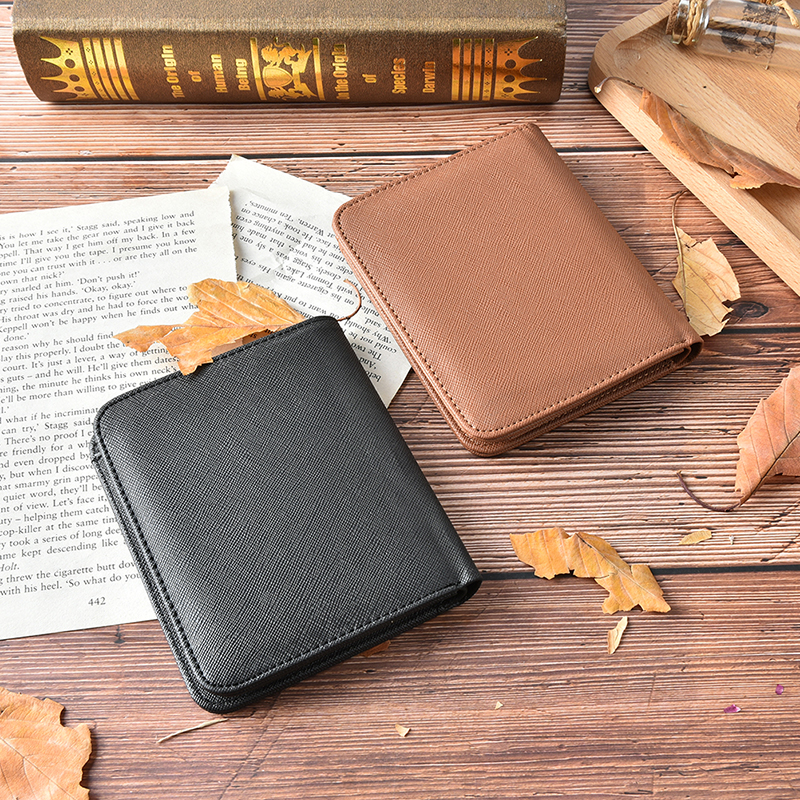 US $4 12 16% OFF|Men Genuine Leather Short Wallets Vintage Coin Purse Card  Bag Luxury Brand Male Fashion Magic Wallet-in Wallets from Luggage & Bags