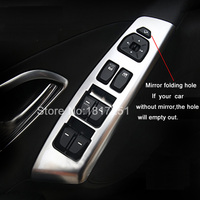 ABS chrome trim auto innerlijke venster knop armsteun decoratie cover hyundai ix35 2013 2014 4 stks/set auto stickers