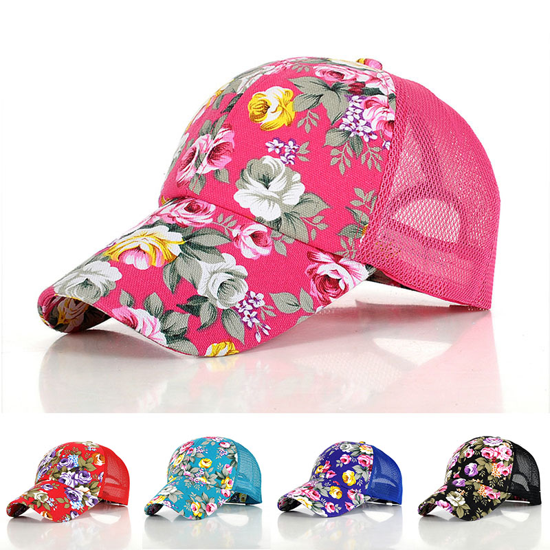 2017 Fashion Floral Maglia Del Berretto Da Baseball Gorras Cappello Hip Hop Per Le Donne Estate Fiore Snapback Caps