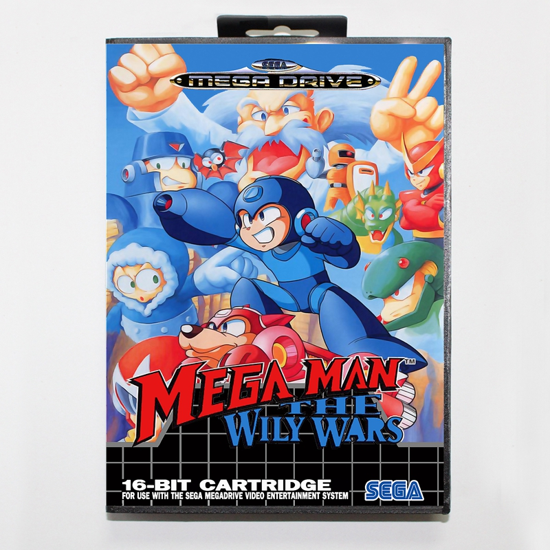 Sega MD font b games b font card Mega Man The Wily Wars 2 with box