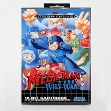 Sega MD games card Mega Man The Wily Wars 2 with box for Sega MegaDrive Video