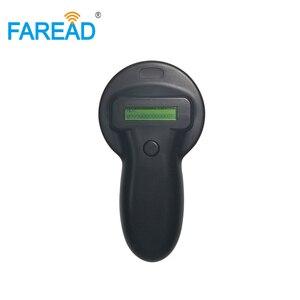 Image 2 - X5 משלוח חינם 134.2KHz microchip סורק HDX FDX B בעלי החיים RFID כף יד עיד אלקטרוני אוזן תג לחיות מחמד שבב קורא