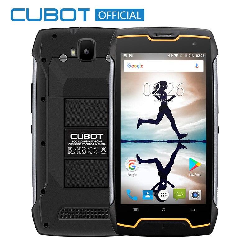 Cubot KingKong IP68 Waterproof Dustproof Shockproof MT6580 Quad Core 4400mAh 5 0 Android 7 0 Cellular