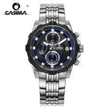 Mode luxusmarke uhren männer Mode lässig charme chronograph kühlen sport herren quarz armbanduhr wasserdicht 100 mCASIMA 8306