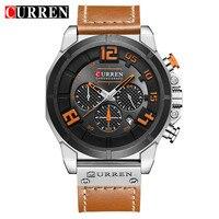 2018 LUXURY Curren Brand Quartz Gold Watches Deluxe Men Leather Watches Women Wristwatches Gifts Men Wristwatches