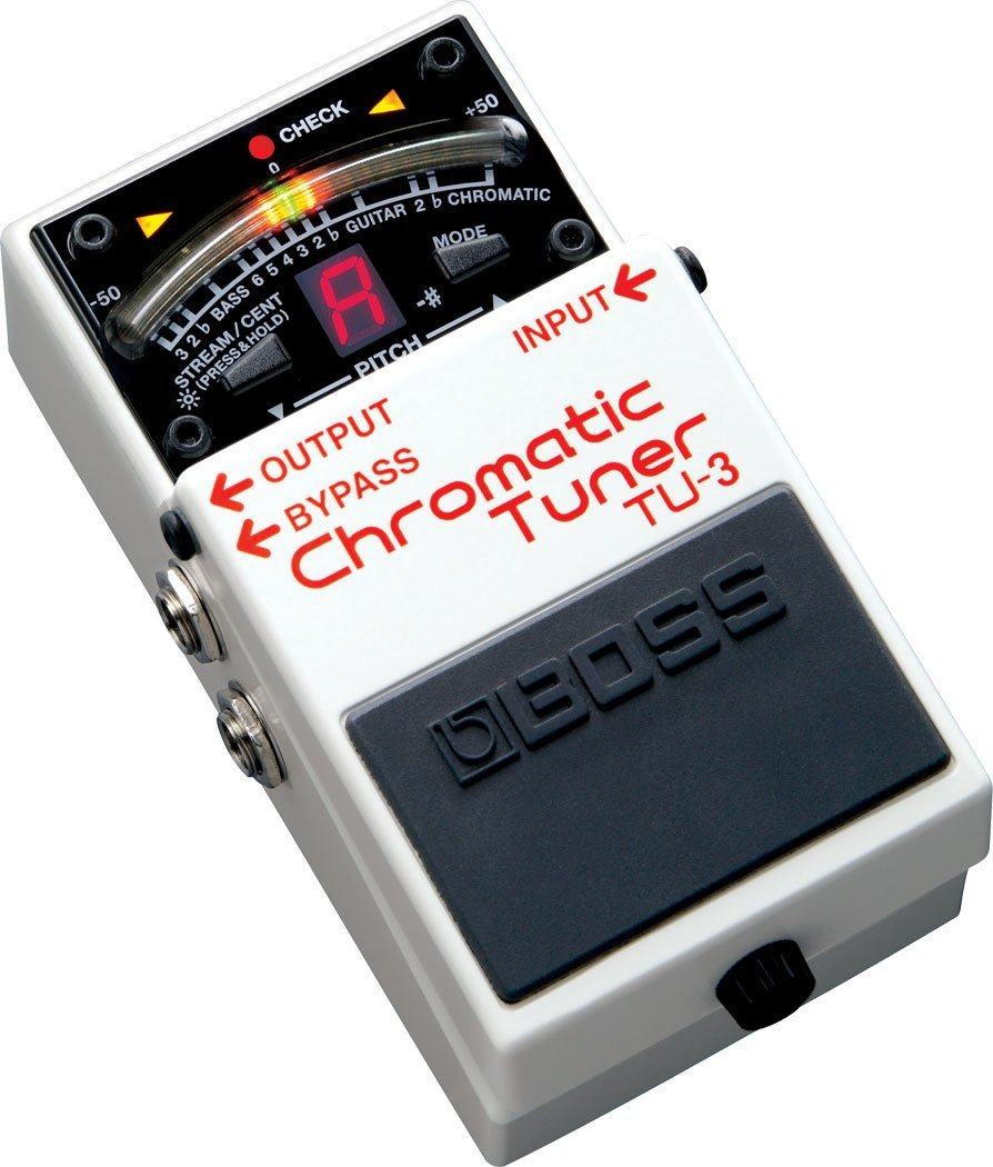 Boss Audio TU-3 Chromatic Guitar and Bass Tuner Pedal with Bypass гитарный тюнер boss tu 3w