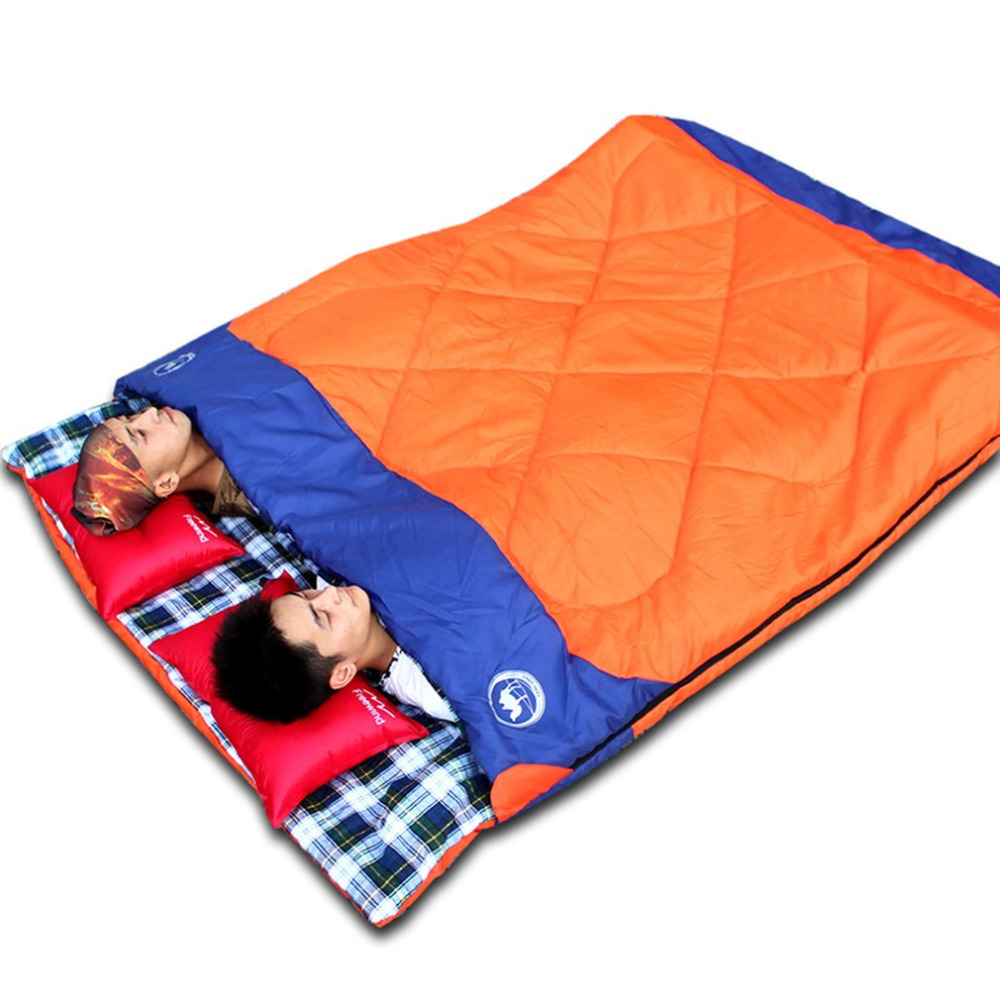 Фотография Splicing Double Sleeping Bag Luxury 3-in-1 Lovers Outdoor Travelling Camping Sleeping Bag Wear Resistant Sleeping Bag CS0221 New