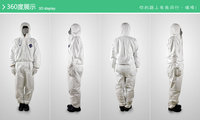 TY127S Disposable Coverall Bunny Suit Hood Elastic Wrists Ankles Safety Protective Clothing