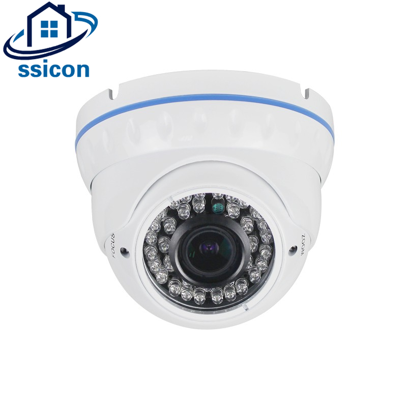 SSICON 2MP 4MP Varifocal Dome Camera 2.8-12mm Lens IR 20M Night Vision Infrared Security AHD Video CCTV Camera With OSD MenuSSICON 2MP 4MP Varifocal Dome Camera 2.8-12mm Lens IR 20M Night Vision Infrared Security AHD Video CCTV Camera With OSD Menu
