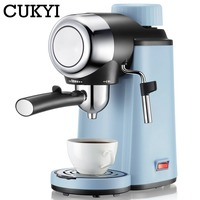 CUKYI Italy espresso coffee machine 5 BAR High Pressure Steam semi automatic coffee maker Milk Bubble Coffee Makers EU US