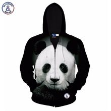 2017 Mr.1991INC Autumn winter jacket for men/women hoody 3d printed big animal panda hooded hoodies 3d sweatshirts tops