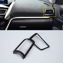 Car Accessories Interior Decoration ABS Front Side Air Vent Outlet Cover For Mitsubishi Eclipse Cross 2018 Car-styling car styling main driver inside handle glasses storage box for mitsubishi eclipse cross interior accessories