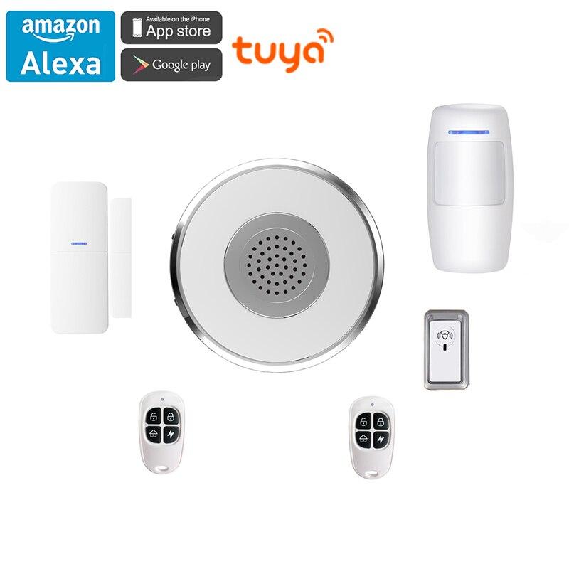 Alexa Google Home Tuya WiFi Smart Home Security Kit Gateway Hub Door Window Sensor PIR 2
