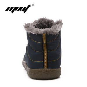 Image 4 - Super Warm Winter Men Boots Waterproof Super Quality Snow Boots Men Warm Winter Shoes Mens Ankle Boots Fur Botas Hombre