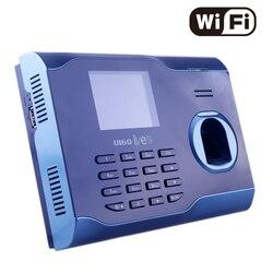 Soporte Multi idioma WIFI asistencia huella digital tiempo de asistencia con Wi-Fi incorporado grabador de huellas dactilares en tiempo Real