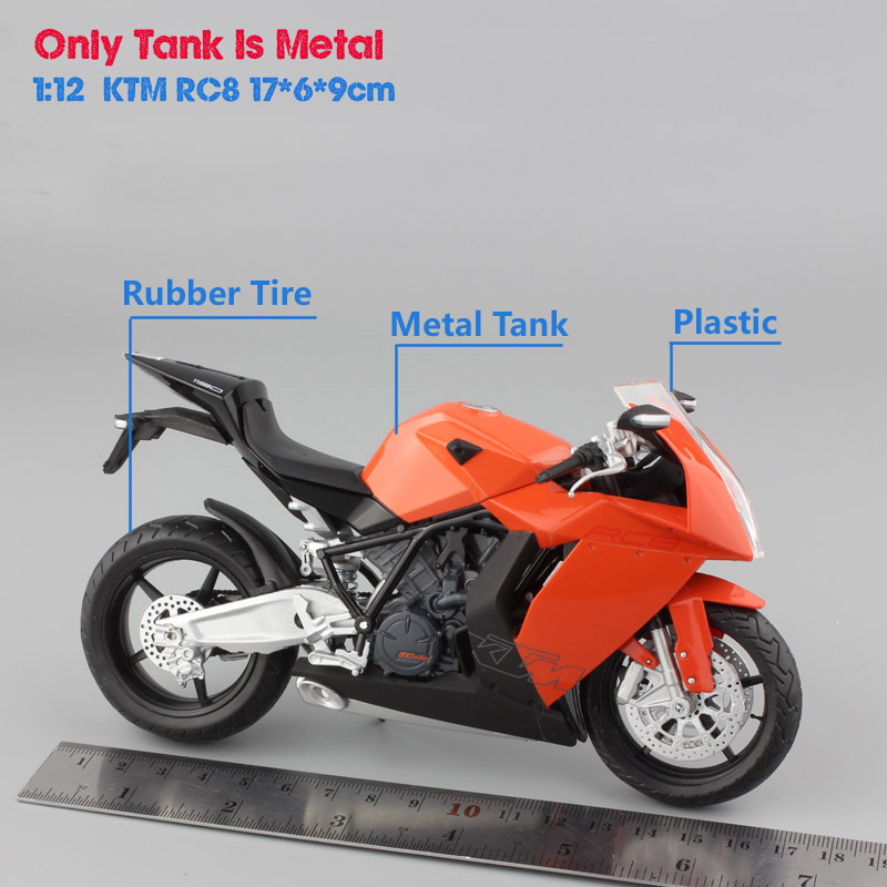 1/12 mini scale kid's automaxx KTM 1190 RC8 R racing motorcycle ...