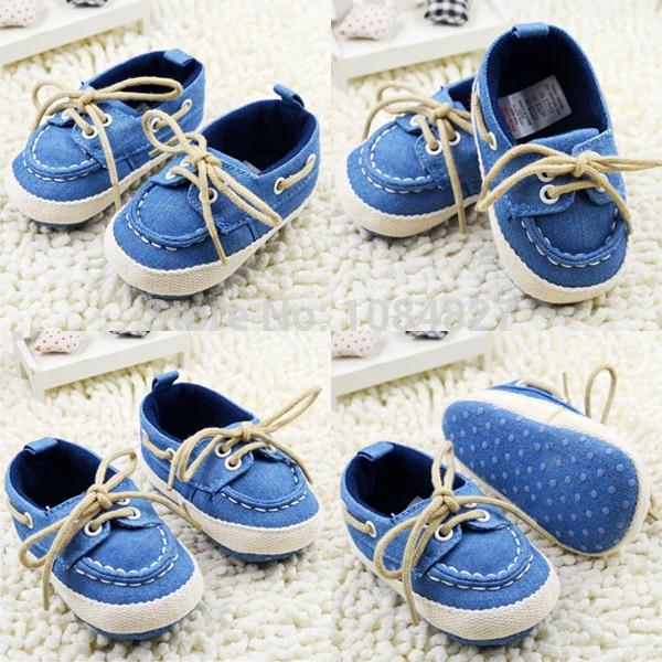 Toddler Boy Girl Miękkie Sole Crib Shoes Sznurówki Sneaker Baby - Buty dziecięce - Zdjęcie 4