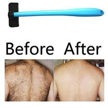 ידית ארוכה שיער מכונת גילוח פלסטיק חזרה ידנית תער להב שיער ללא כאבים מסיר גוף טיפוח שיער גילוח סכיני גילוח גברים
