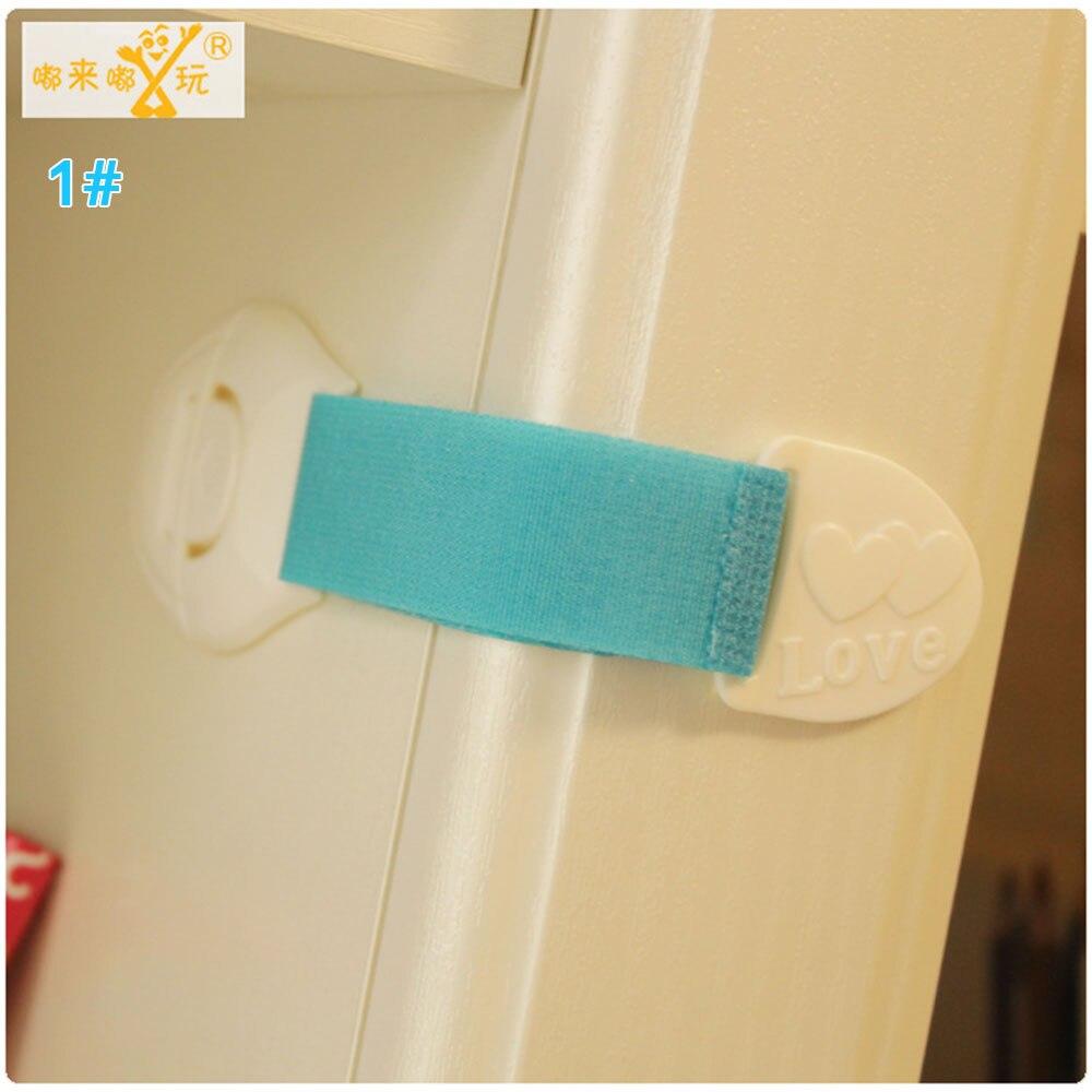 Замок холодильника блокирующий замок для шкафа Детские Детская безопасность замок ABS ящики уход за младенцем дома Творческий холодильник для детей - Цвет: blue