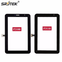"""Srjtek 7 """"para Samsung Galaxy Tab 2 7.0 P3100 P3110 Pantalla Táctil Sensor de Vidrio Del Panel Digitalizador Tablet PC piezas de Repuesto"""